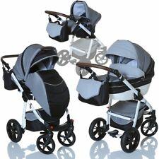 Abverkauf - 3in1 Kombi Kinderwagen Babywanne Buggy Babyschale 0-13 kg Grau
