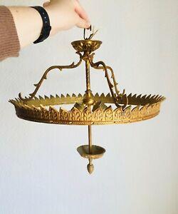 """14"""" 2-Light Antique FRAME Semi Flush Mount Crystal Chandelier Basket Bag Lamp"""