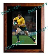 ADAM ASHLEY COOPER WALLABIES RUGBY LARGE A3 PHOTO 2