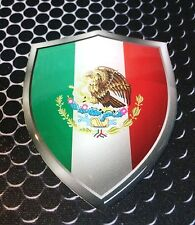 "Mexico Shield Flag Proud Domed Decal Emblem Car Sticker 3D 2.3""x 3"" Cancun"