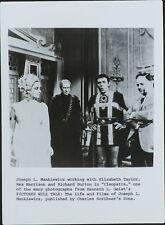 Joseph L. Mankiewicz, Elizabeth Taylor, Rex Harrison, Richard Burton, Joe Pug