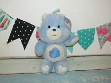 "NWT Care Bear Grumpy Plush 20th Anniversary Doll Stuffed Blue Sad Toy 14"" RARE"