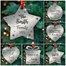 PERSONALISED Family Christmas Tree Decorations Ornaments Xmas Mirror Baubles