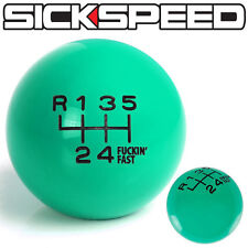 MINT GREEN FING FAST SHIFT KNOB FOR 6 SPEED SHORT THROW SHIFTER 12X1.25 K16
