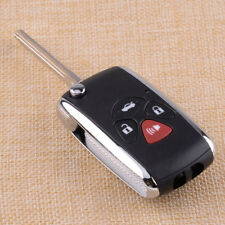 4 Button Flip Blank Remote Key Case Shell Fit For Toyota Camry