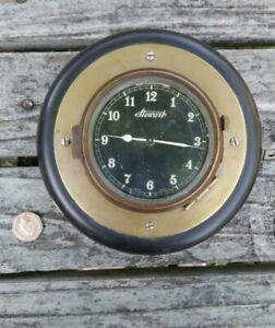 Vintage Stewart Swiss Made Dashboard Brass Classic Car Clock - NOT Working