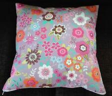 Kissenhülle, Kissenbezug 40x40 cm, Blumen, flieder, Dekokissen, Handarbeit, neu