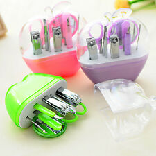 9Pcs Manicure Pedicure Ear Pick Nail Care Clippers Cutter Kit Set Tools Grooming