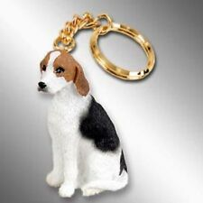 American Foxhound Dog Tiny One Resin Keychain Key Chain Ring
