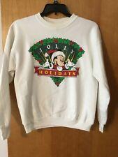 Walt Disney World JOLLY HOLIDAYS CHRISTMAS Sweat Shirt L MICKEY MOUSE.
