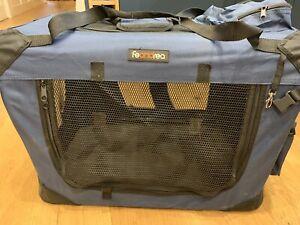 Pet Travel Carrier - Small Dog/Cat 60x40x40cm - Dark Blue