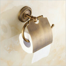 Brass Bathroom Toilet Paper Holder Roll Paper Rack Wall Mount, Antique Brass
