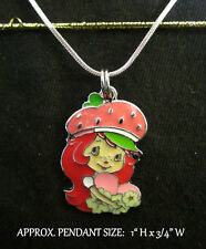 Strawberry Girl Necklace Charm Steel Chain