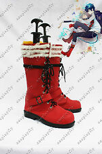 Ao no Blue Exorcist Cosplay Shoes Rin Okumura Red Boots Custom Size B1026