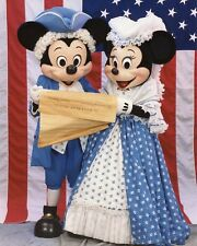 MICKEY MOUSE MINNIE MOUSE READ DECLARATION OF INDEPENDENCE 1990 NBC TV PHOTO