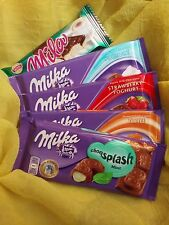 4x MILKA Chocolate of Your Choice Yoghurt Strawberry Toffee Mint Mila Wafer Free