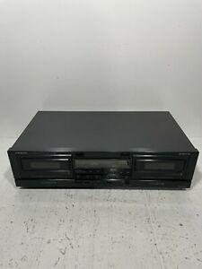 Onkyo TA-RW200 R1 Auto Reverse Stereo Double Cassette Tape Deck Tested Working