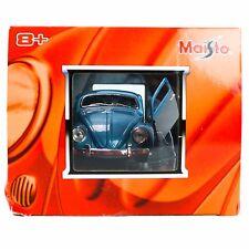 Maisto Volkswagen 1/25 Diecast Model VW Bug Beetle Blue G-Rides V-Bugz