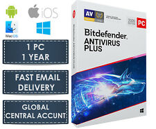 Bitdefender Antivirus Plus 2020 - 1 PC (Central Account - eDelivery) 12 Month