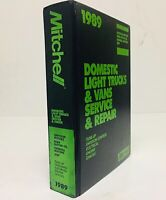 Vtg 1989 Mitchell Domestic Light Trucks Vans Service Repair Manual Ford GM Jeep