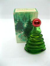 "Vtg Avon Christmas Tree"" Here's My Heart"" Cologne 1oz Glass Bottle Red top Usa!"