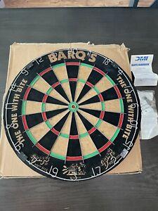 "RARE BARQ'S Dartboard Vintage Dart Board 18"" Thick 1.5"" Root Beer ""Bite Me"""