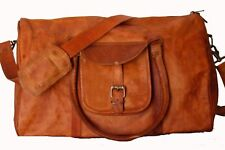 Leather Genuine Bag Travel Dufflel Men Gym Luggage S Weekend Overnight Vintage