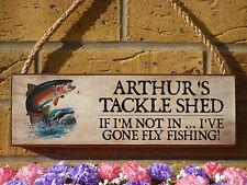 Signo Personalizado cobertizo aparejos de pesca pesca con mosca trucha pesca de salmones Signo De Regalo