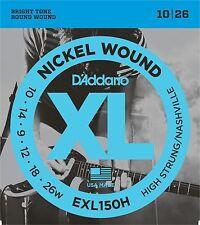 D'addario exl150h le corde per chitarra elettrica ad alta/Nashville 10-26 Strung