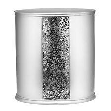 Bathroom Waste Basket Silver Modern Decor Trash Can Bin Office Bath Bedroom Chic