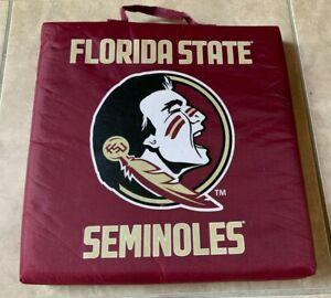 Logo Vintage Florida State University Seminoles Stadium Seat Cushion w/ Handle