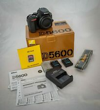 Nikon D5600 24.2MP Digital SLR Camera (Body Only) USA, low 3889 Clicks + EXTRAS