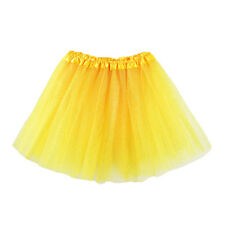 Girls Kids Dance Fluffy Tutu Skirt Pettiskirt Ballet Dress Up Fancy Costume A