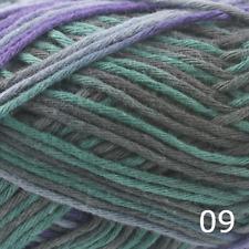 Rico creative Algodón aran impresión Tejer & Hilo De Ganchillo-Púrpura Verde Azulado Mix 009