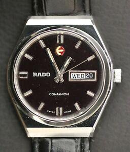 Vintage Rado Companion Swiss Made 25 Jewels Automatic Day Date Men's Watch