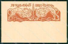 Militari 78º Reggimento Fanteria Brigata Toscana Lupi Cisari cartolina XF5474