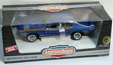 ERTL 1/18 1969 Pontiac GTO Judge Liberty BLUE 7777 SEALED American Muscle '69