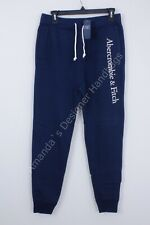 Abercrombie & Fitch Mens XL Sweatpants Drawstring Navy NWT