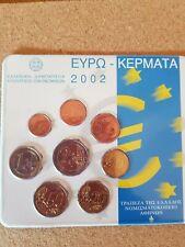 Greece 2002 euro coin set (rare)