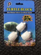 Brand New 3 Turtle Water Conditioning Blocks Aquarium Reptile Pond Tank Calcium