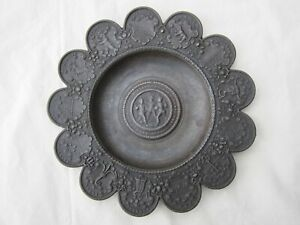 ANTIQUE 19THC GERMAN BERLIN IRON METAL ART PLATE , BERLINER EISEN