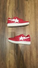 A Bathing Ape BAPESTA foot soldier red/white shark sole sz 7.5 100% authentic