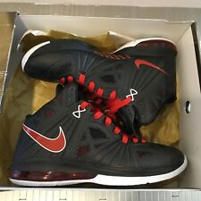 94b929464298 2010 Nike Air Max LEBRON VIII 8 PS Playoff BLACK WHITE RED BRED 11.5 441946  001