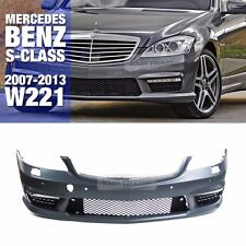 S63 S65 AMG Style DRL Front Bumper W/ PDC Body for Mercedes Benz 2007-13 S W221