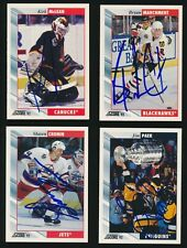 1992-93 Score Hockey *AUTOGRAPHED* LOT of (4) w KIRK McLEAN, PAEK, MARCHMENT