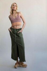 Free People woke up like this maxi  Skirt xs 10/12 30 waist bnwt Camo
