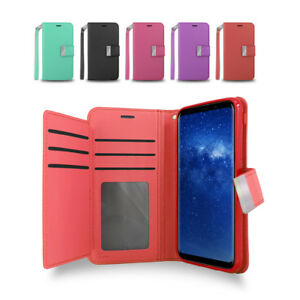 For Samsung Galaxy NOTE 8 / NOTE8 Double Wallet Leather Fold Stand Case Cover