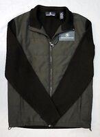 NWT $295 Hart Schaffner Marx Jacket Black Merino Wool Mens Size M XL Full Zip