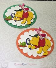 2xDecoupage Pictures of Winnnie The Pooh And Piglet Theme Toppers
