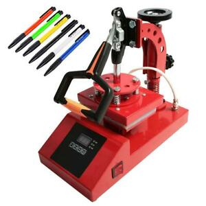 6PCS Pen Heat Transfer Machine Pen Heat Press Craft Printing Sublimation Red